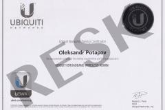 Cертифікат адміністратора бездротових широкосмугових мереж Ubiquiti UBWA (Ubiquiti Broadband Wireless Admin)